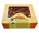 Конфеты натуральные со льном и черникой на меду, 140г, Дивинка